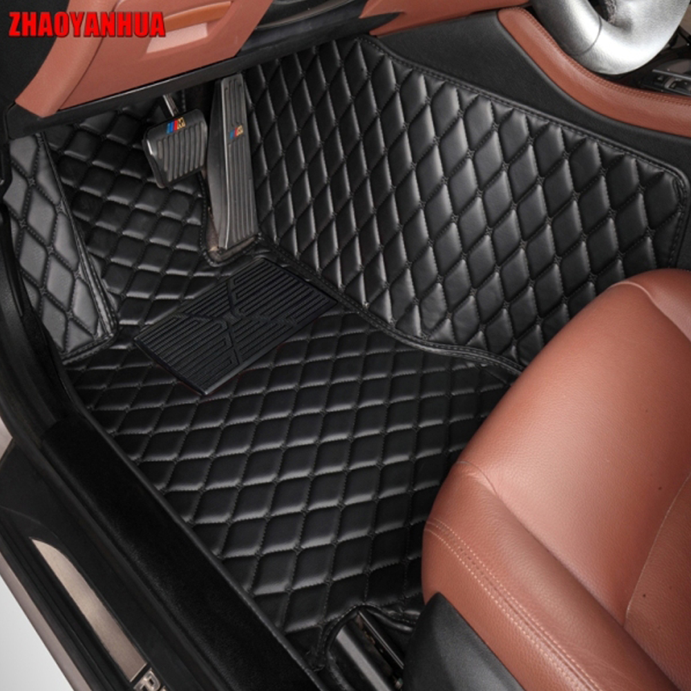 ZHAOYANHUA Car floor mats for Infiniti ESQ Nissan Juke accessories 5D car-styling heavy duty rugs carpet foot case liners (2014-