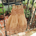 2016 girls summer dresses korean baby fashion lace tulle princess party dresses designer brand kids clothes 2-6y