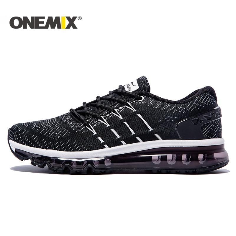 ONEMIX 2017 כרית גברים נעלי ריצה לנשימה רץ אתלטי סניקרס גברים חיצוני ספורט נעלי גברים משלוח חינם