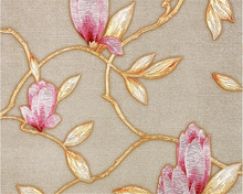 beibehang New upscale garden silver floral gold foil hotel bar cafe wallpaper papel de parede behang hudas beauty pared