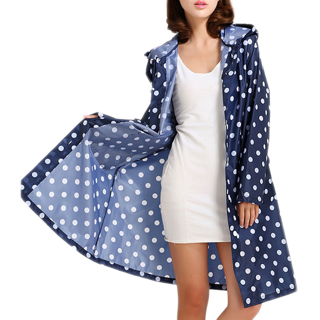 Women Poncho Long Rainwear Raincoat Jacket Waterproof Cloth Rain Coat Girl Lady Hooded Raincoat Outdoor Travel in Raincoats from Home Garden