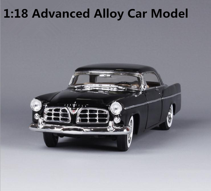 High simulation 1956 Chrysler 300B classic car, 1: 18 advanced alloy car model, metal cast,retro toy vehicle, free shipping 1 18 scale maisto classic children 1956 chrysler 300b antique vintage car metal diecast vehicle gift model kids toys collectible