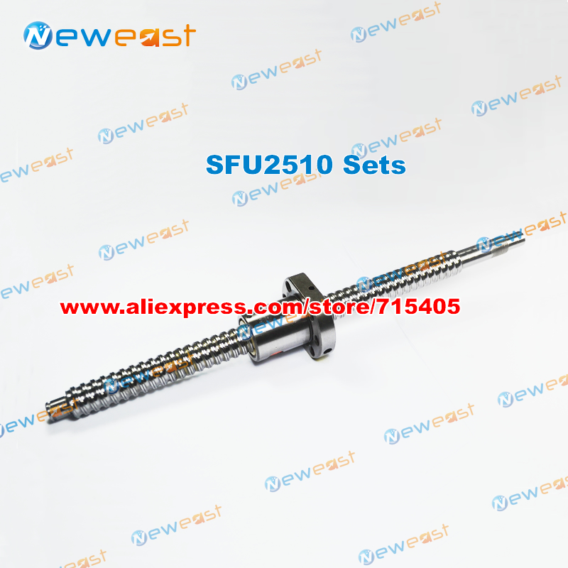 DIY CNC engraving machine kits High quality Best prices Rolled Ball screw SFU2510 with SFU2510 ballnut + End machining