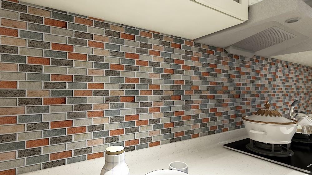 US $39.12 |Peal E Bastone di Piastrelle Piastrelle Cucina Backsplash 10  Pezzi di Adesivo di Piastrelle Muro di Mattoni-in Adesivi murali da Casa e  ...