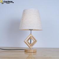 Bedside Reading Room Sitting Room wooden home Decor LED Table Lamp Light EU plug US UK Plug Student study desk lamps warm light