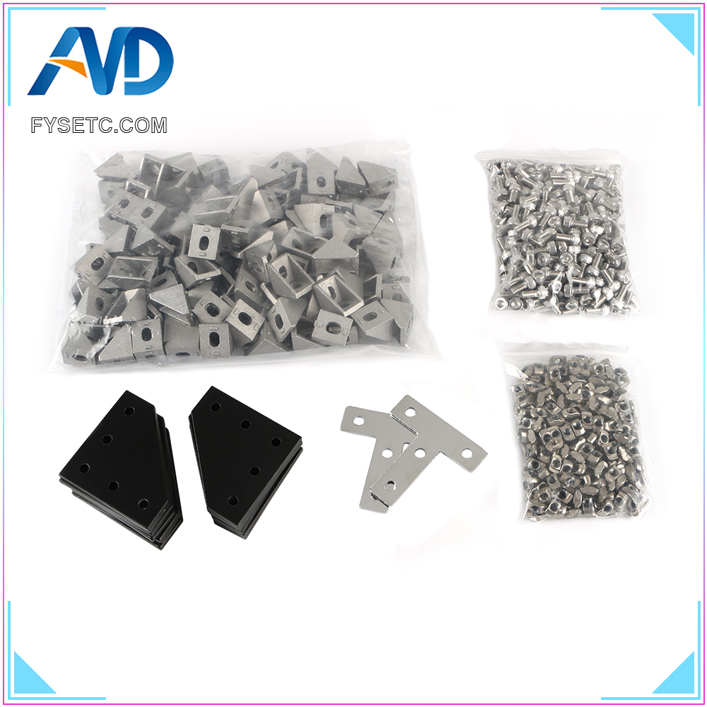 BLV Mgn Cube Frame Hardware Kit Screw Nut Hardware Parts Machine Parts For DIY CR10 Anet