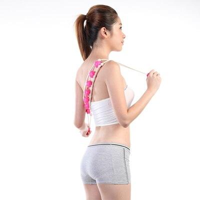 цена  The waist humeral back massager multi-effect toning massage roller bar Manual thin body to pull back  онлайн в 2017 году