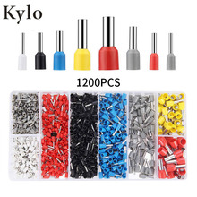 1200pcs tube terminals Crimp Terminal Set Kits Insulated Electrical Wire Crimp Connector Terminal pre-insulated cold-pressed end