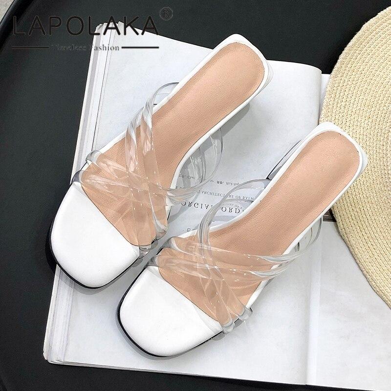 Heißer Ins Lapolaka Frau Weiblichen Slip weiß Neue Schuhe Auf Schwarzes Hohe Casual 2019 Qualität Mode Sandalen qAwAxrY0B