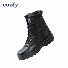 New Us 군 가죽 전투 Boots 대 한 Men 보병 Tactical Training 발목 Shoes Motorcycle Boots Vintage 전투 신발쏙 ~(China)