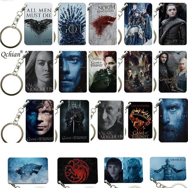 2019 Game Of Thrones Sleutelhanger Hanger juego de tronos Houten Sleutelring voor TV Play Fans Souvenirs
