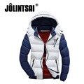 Jolintsai Parka Men Winter Jacket Men 2017 Patchwork Hit Color Winter Down Coats Men Cotton Plus Size Stand Collar Hooded Parka