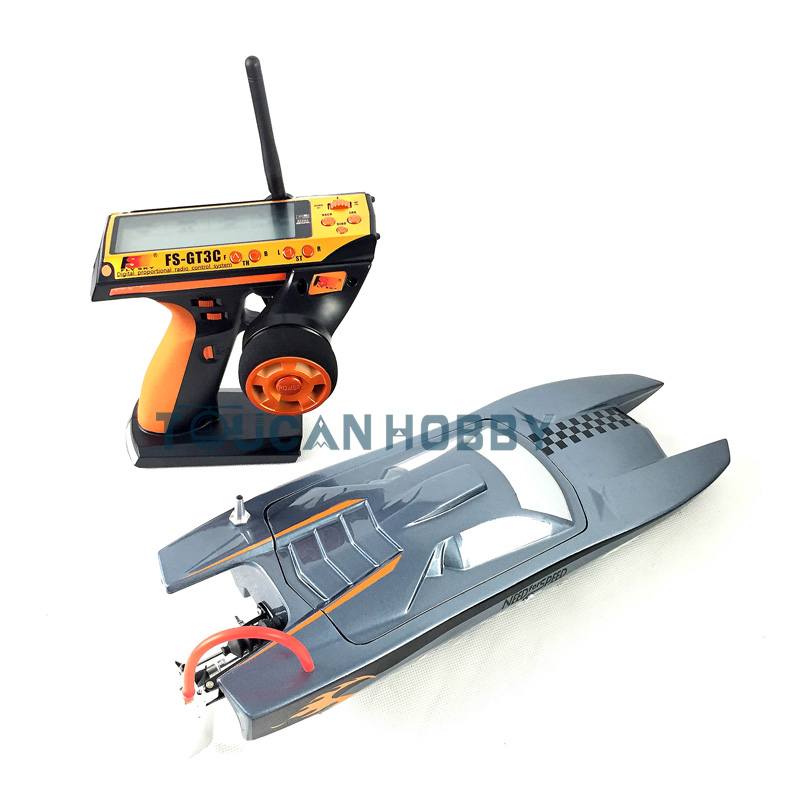 M380 RTR Fiber Glass Electric Racing Speed Boats RC Boats W/Brushless Motor/ Remote Control/ESC/Servo Grey h625 pnp spike fiber glass electric racing speed boat deep vee rc boat w 3350kv brushless motor 90a esc servo green