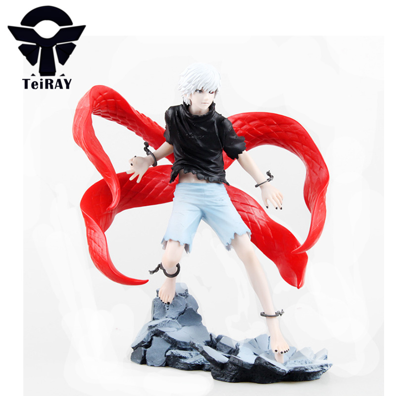 Tokyo Ghoul Kaneki Ken Figuras Japanese Anime pvc action figures figurines Juguetes kids Birthday Brinquedos hot toys 23cm 9 anime tokyo ghoul mask cosplay figure kaneki ken action figure brinquedos party adjustable zipper prop juguetes hot kids toys