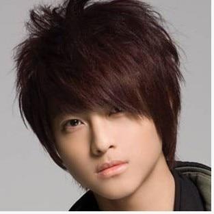 Hot Boys Wig New Fashion Korean Men S Short Light Brown Male Hair