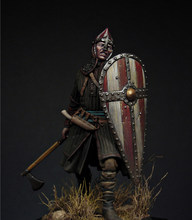 Unassambled 1/24 75MM ancient Norman Warrior soldier (WITH BASE )Historical Resin kit miniature model Unpainted(China)