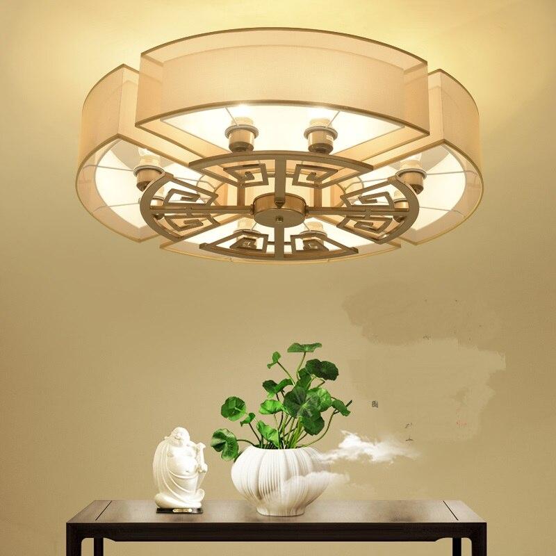 Chinesischen Stil Deckenleuchte Warm Und Romantische Runde Wohnzimmer Schlafzimmer FHRTE Restaurant Antik Studie