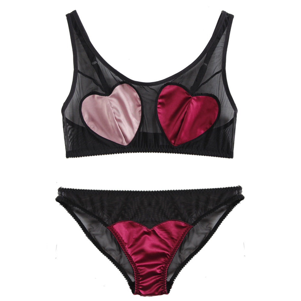 1adcd47025 Buy bra panties heart and get free shipping on AliExpress.com