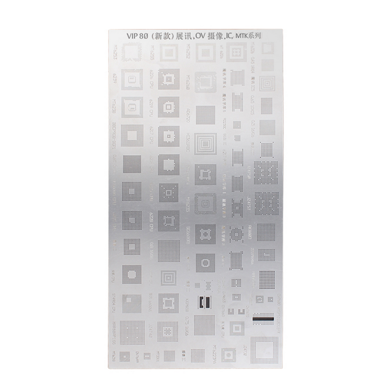1/2/5 PCS 80 Kinds Of IC Chip Universal Phone Solder Paste BGA Reballing Stencils Repair For Mobile Phone VIP80