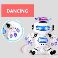 Smart Space Dance Robot Electronic Walking Toys With Music Light Gift For Kids Astronaut Toy To