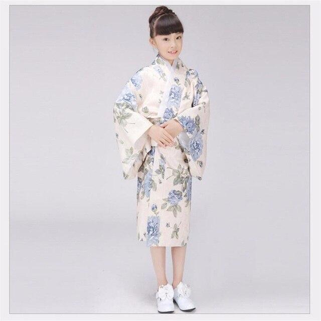 Promosyon Geleneksel Japon Bebek Kız Kimono Elbise Sevimli Çocuk Yukata Sahne Dans Kostüm Klasik Çocuk Cosplay Elbise