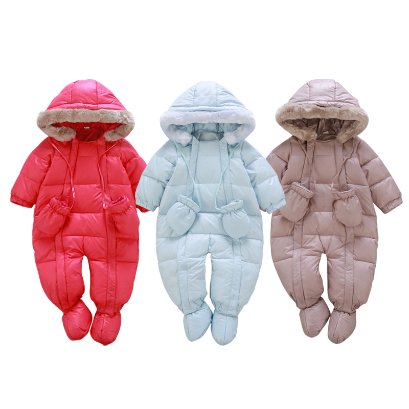 20b510b17d9d New 2017 Winter down jacket for girls coats 0 24M Baby winter ...