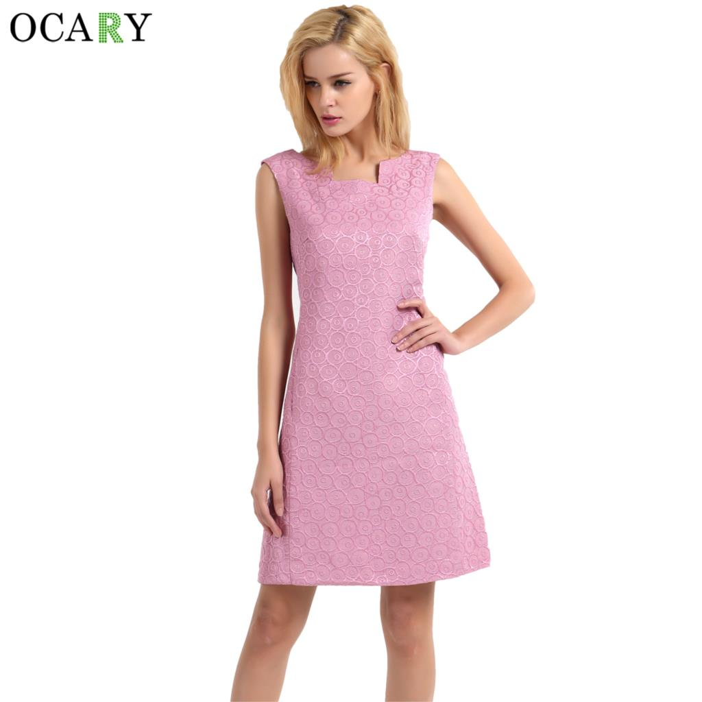 Buy Ocary Luxury Women Loose Tank Dress With Pockets Fashion Casual Pink Dress