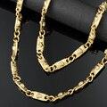Europa Marca de Moda Medusa Colar De Fixação de Cor Chapeamento de Ouro Da Jóia Das Mulheres Dos Homens Cadeia Maré Personalidade Com Acessórios
