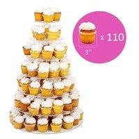 Producenci sprzedają 7 tier ciepłe okrągłe ciasto wieża specjalny tort weselny dekoracji sklepów akrylowa cupcake stand
