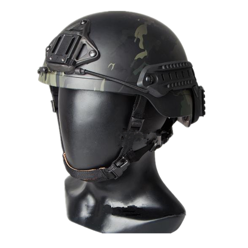 Sentry Helmet (XP) ABS Material Tactical Fast Helmet For Airsoft Paintball Sports Helmet Multicam Black Size M L