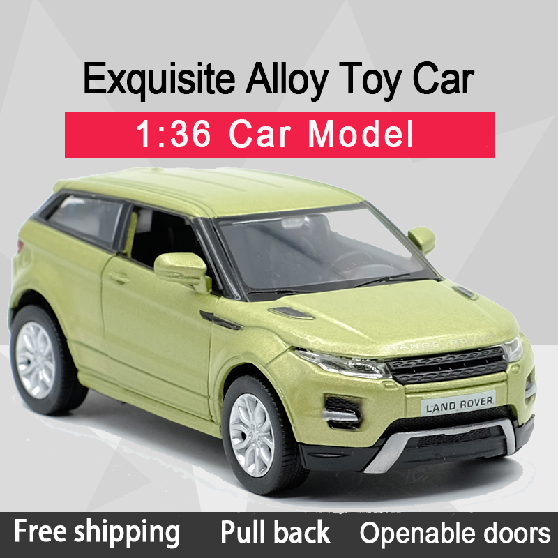 RMZ CITY 1:36 Evoque SUV Colourful Alloy Diecast Car Model Toy With Pull Back For Children Gifts Toy Collection