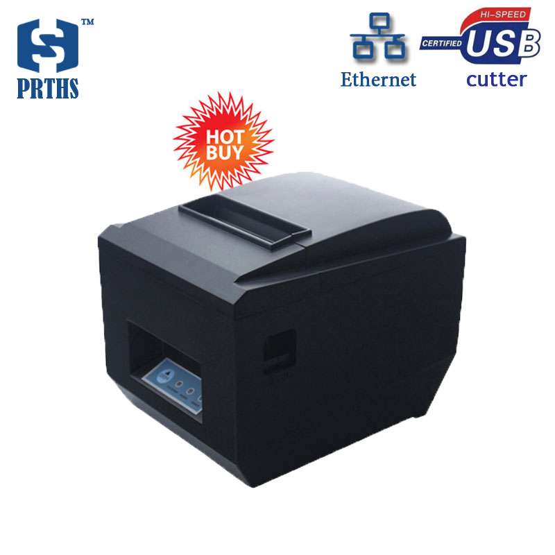 USB+LAN thermal receipt printer pos80 with auto cutter Low cost and High-quality thermal printing Low-power waste HS-825UL usb interface 58mm pos receipt printer thermal printing with power supply built in free shipping