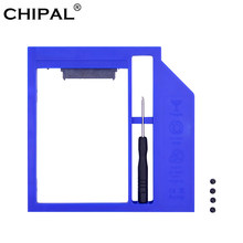 "CHIPAL de SATA 3,0 2nd HDD Caddy 9,5mm para 2,5 ""7mm 9mm SSD caso caja de disco duro para Notebook DVD-ROM Bahía óptica(China)"