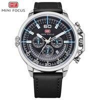 MINIFOCUS Original Watch Men Top Brand Luxury Men Watch Leather Clock Men Watches Horloges Mannen Erkek