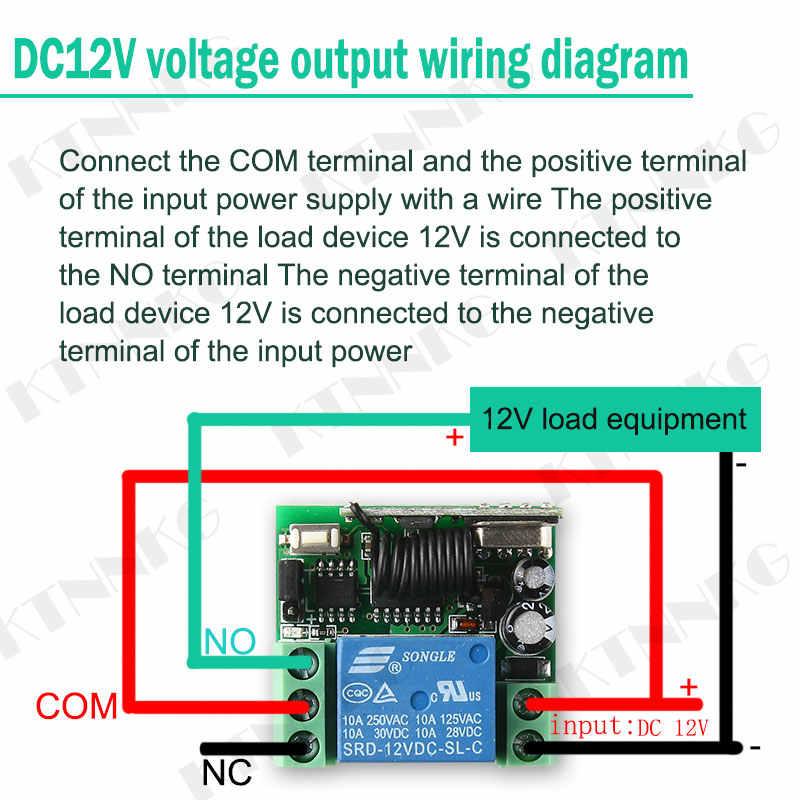 DC 12V 1Way รีโมทคอนโทรลไร้สายรีเลย์โมดูลไร้สายประตูอิเล็กทรอนิกส์รีเลย์ RF 433MHz โรงรถ Poower ควบคุม drop Ship