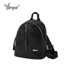YBYT brand 2018 new vintage casual alligator women small rucksack kawaii preppy style girl schoolbag student school backpacks(China)