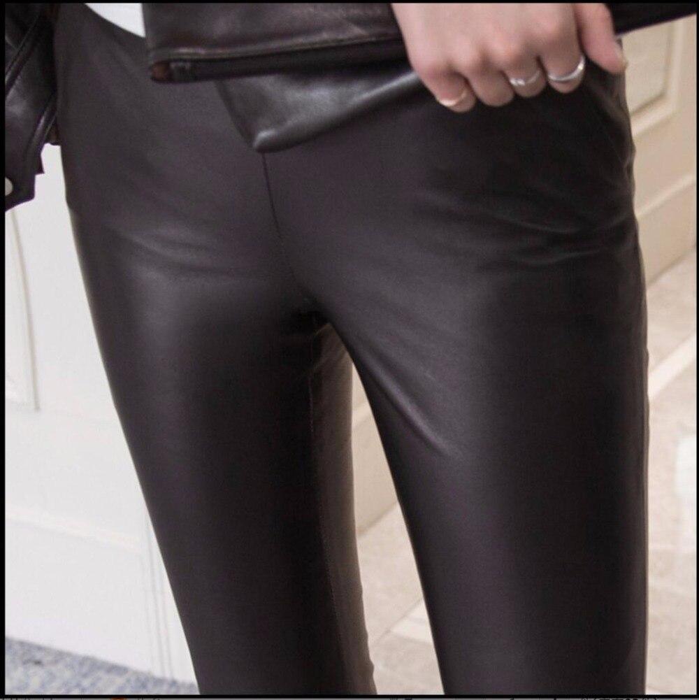 Hommes 3xl Cloche 2019 Longueur De Cheville Cuir Mince En Mouton Pantalon Hiver Peau Femelle Décontracté Noir bas Était Nouveau Véritable S 4xtUdwx