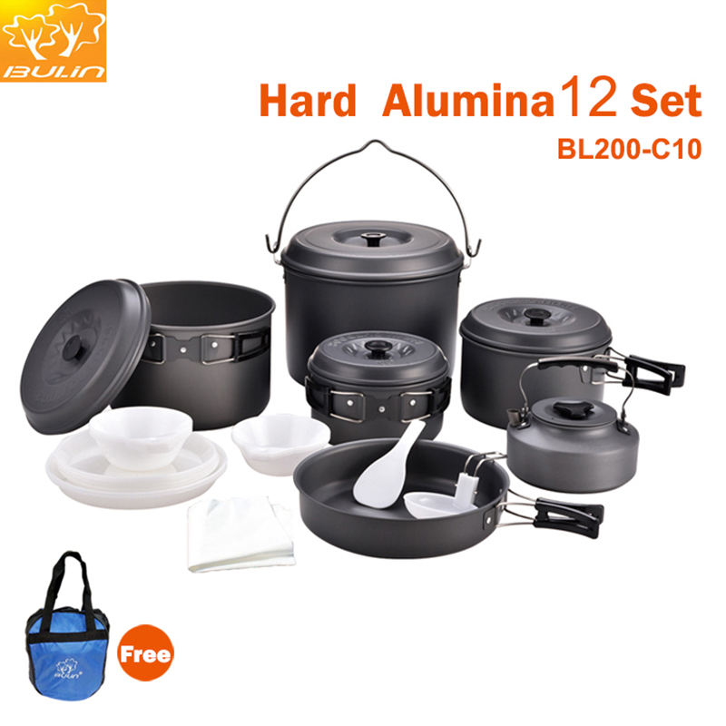 12 Person Camping Cookware Outdoor Pot Set Hiking Cooking Set Picnic Pot BL200-C10 pot still set