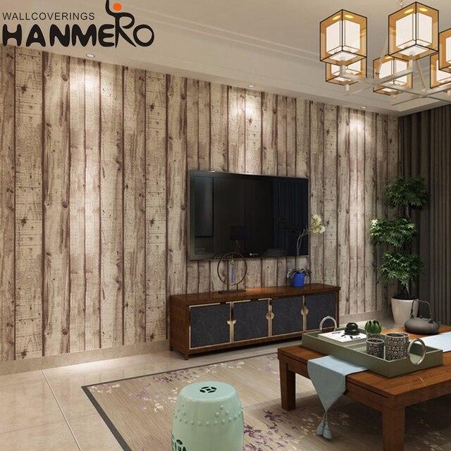 Hanmero 3d Drewna Teksturowane Tapety Dekoracje ścienne Farby Rolka