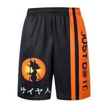 2020 yeni dragon ball z GOKU gevşek spor şort erkekler serin yaz basketbol kısa pantolon sıcak satış Sweatpants hiçbir kemer