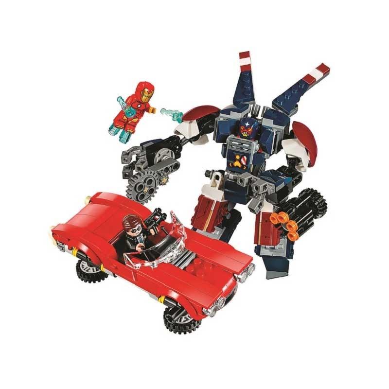 gifts Pogo Bela 10674 Iron Man Detroit Stell Strikes Super Heroes Marvel Building Blocks Bricks Compatible legoe Toys