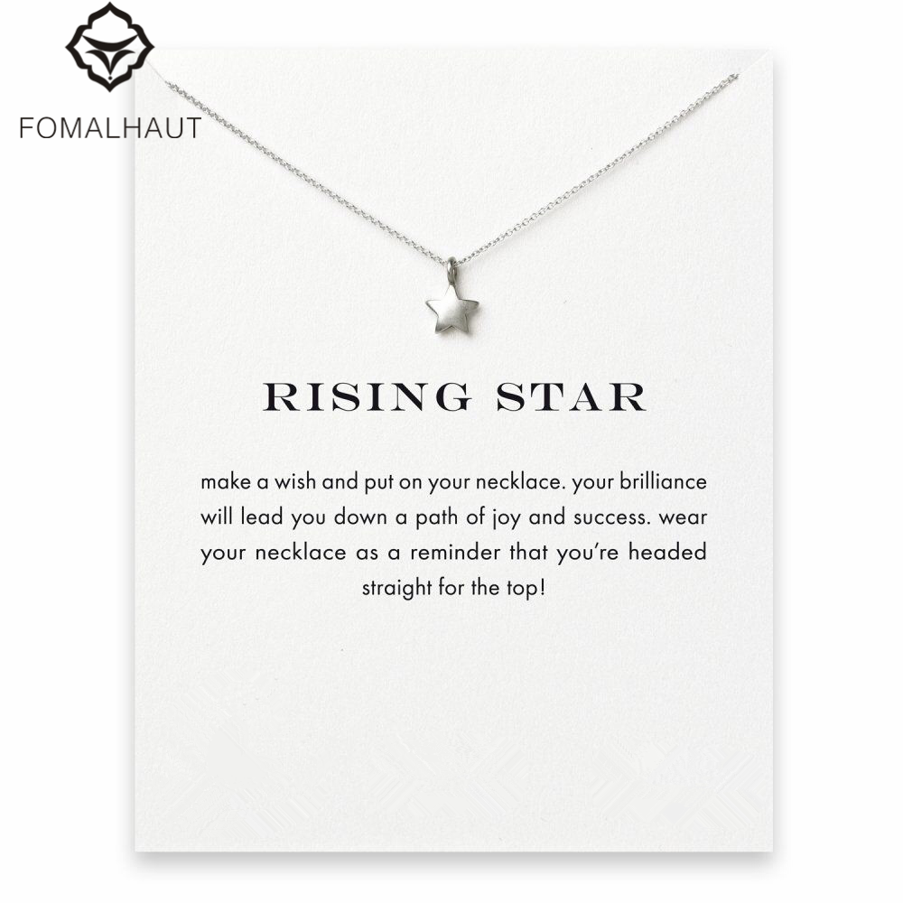 Hot Sale Sparkling full star Pendant necklace Clavicle Chains Statement Necklace Women FOMALHAUT Jewelry F-4