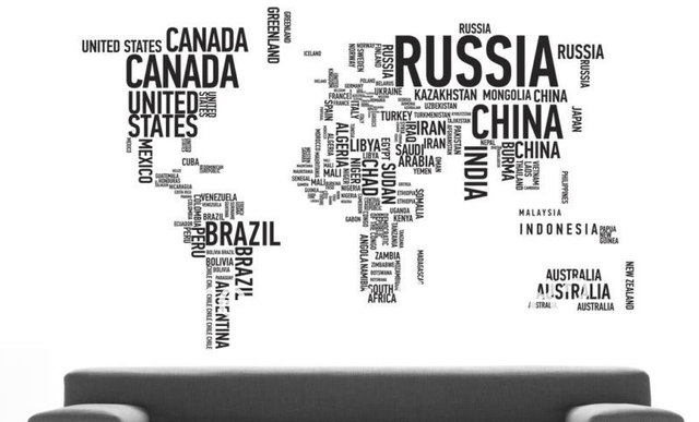 Black large world map in words removable vinyl wall sticker decal black large world map in words removable vinyl wall sticker decal mural art home decor publicscrutiny Gallery