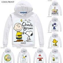 Orzeszki ziemne męskie bluzy z kapturem Charlie Brown Woodstock Charles Monroe Sparky bluza Anime Streetwear niestandardowa bluza z kapturem kostium z kapturem