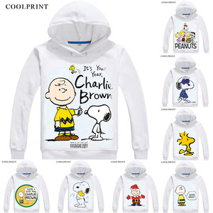 Image 1 - PEANUTS Mens Hoodies Charlie Brown Woodstock Charles Monroe Sparky Anime Sweatshirt Streetwear Custom Hoodie Costume Hooded