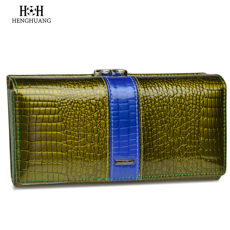 HH Genuine Leather Women Wallets and Purses Alligator Ladies Hasp Crocodile Long Clutch Coin Purse Genuine Leather Wallet stock promotion genuine leather wallet female purse long coin purses holder ladies wallet hasp fashion womens wallets and purses