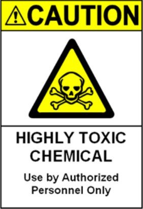 200 шт 15x20 см предостережение высокотоксичный химический рабочий безопасности напоминание ПВХ стикер, прочный водонепроницаемый, пункт № CA16