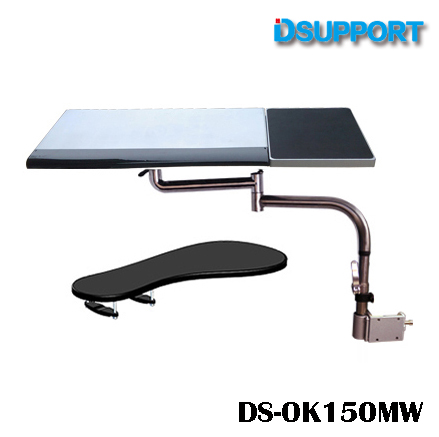 OK150 Multifunctional Full Motion Chair Clamping Keyboard Holder+Square Mouse Pad+Chair Arm Clamping XL size Mouse Pad/Mat