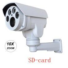 HI3516C+SONY IMX222 SD Card 1080P 10X Auto Zoom 5-50mm Varifocal lens PTZ Outdoor Bullet Security CCTV ip Camera IR cut Onvif