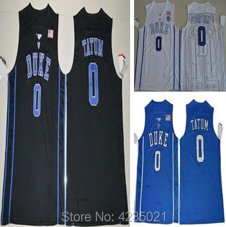 Men 0 Jayson Tatum College Jersey Duke Blue Devils Men Basketball Jerseys For Sport Fans All Stitched Blue Black White